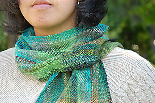 Woven noro scarf wrapped