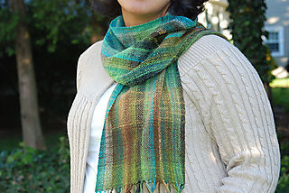 Noro sock yarn scarf pretty