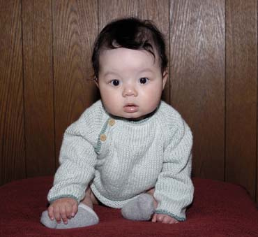 baby raglan sweater