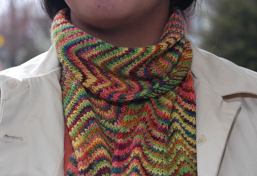 chevron scarf, the first