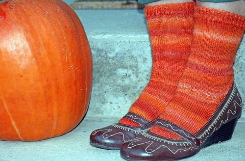pumpkin socks