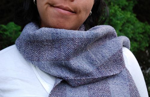 handspun and woven scarf