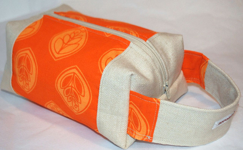 orange twill boxbag