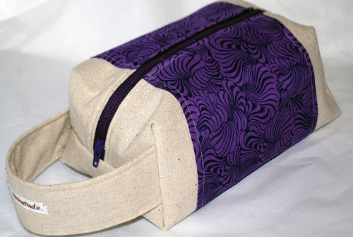 purple boxbag