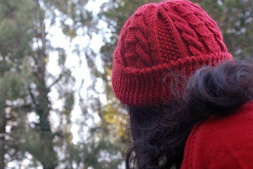 aran cabled hat
