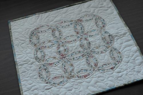 mini wedding quilt