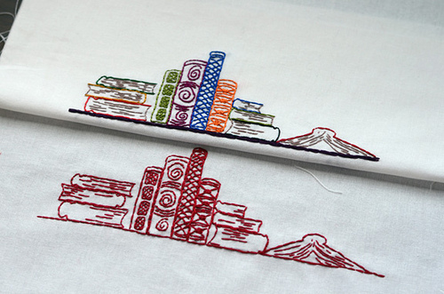 stitched books